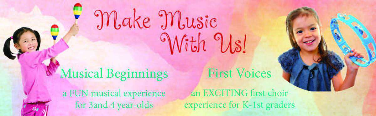 New Choir Opportunities for 3-4 year-olds