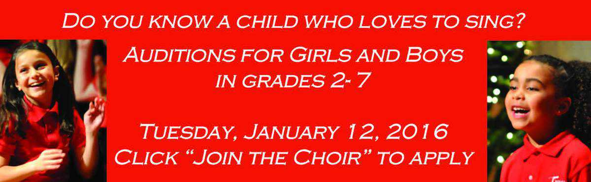 Training Choirs - January 12 Auditions