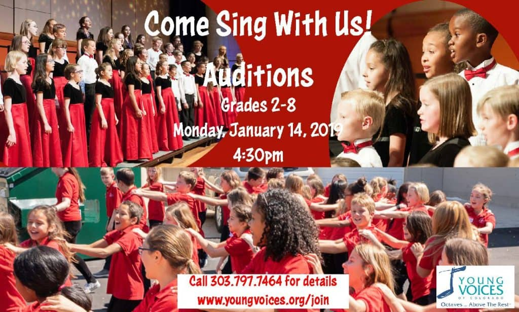 New Singer Training Choir Auditions @ Young Voices of Colorado Studio | Englewood | Colorado | United States