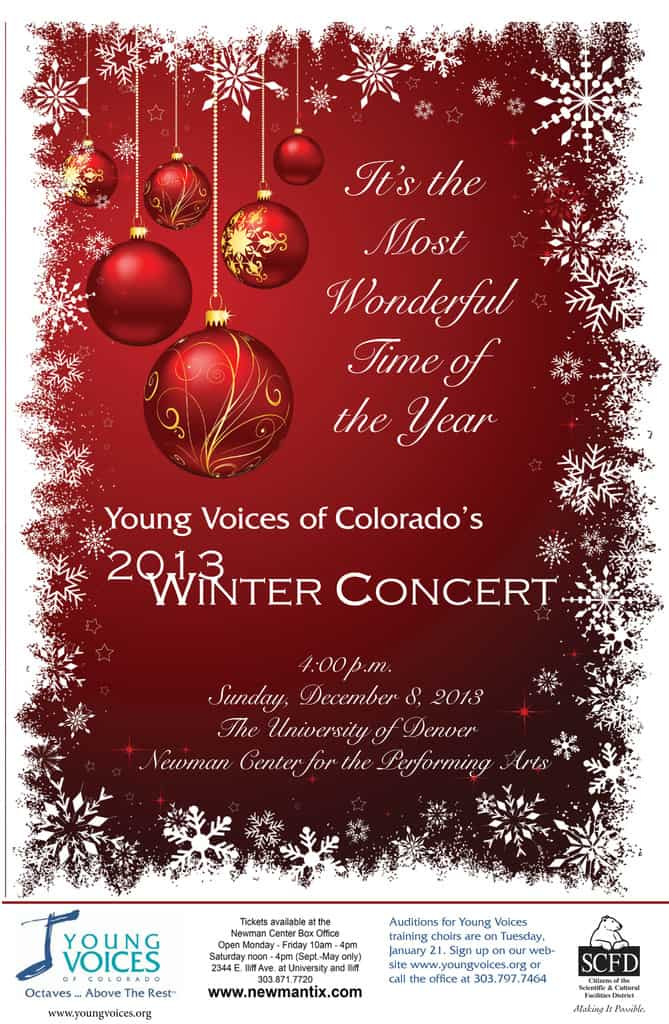 concerts young voices of colorado concerts wonderful time of the year poster small