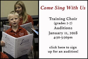 New Singer Training Choir Auditions @ YVC Studios | Englewood | Colorado | United States