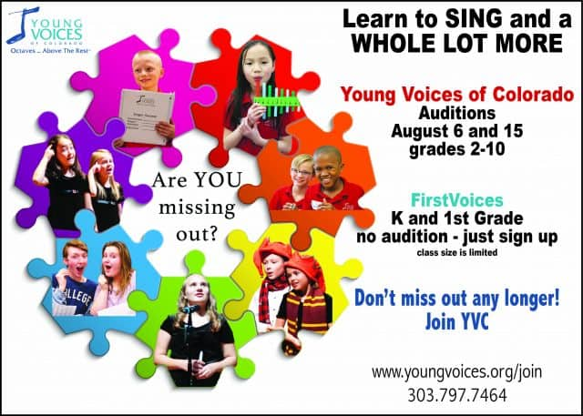 New Singer Auditions @ Young Voices of Colorado Studios | Englewood | Colorado | United States